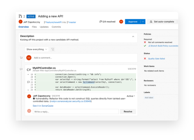 Pull Request decoration right in your Azure DevOps environment